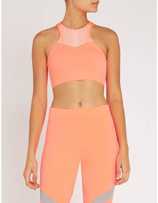 adidas by Stella McCartney HIIT medium support stretch-jersey sports bra