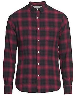 Officine Generale Men's Lipp Stitch Shadow Plaid Shirt