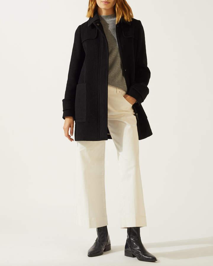 Pleat Back Short Coat