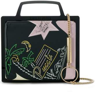Emilio Pucci printed accordion bag