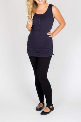 NOM Maternity Navy Nursing Tank Top