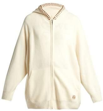 Loewe Wool Blend Cardigan - Womens - Ivory