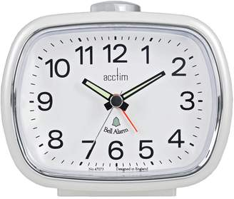Acctim Camille Pearl White Alarm Clock