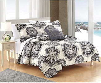 Chic Home Madrid 8 Piece Full/Queen Bed in a Bag Quilt Set Bedding