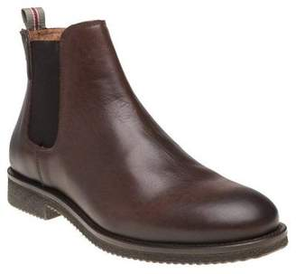 Sole New Mens Brown Seaton Leather Boots Chelsea Lace Up