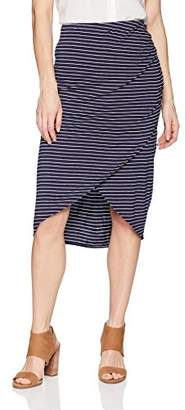 Max Studio Women's Stripe Jersey Midi Skirt