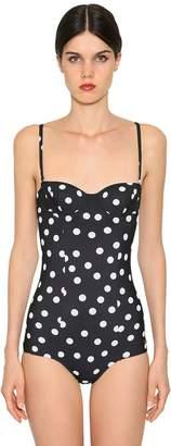 Dolce & Gabbana Printed Lycra One Piece Swimsuit