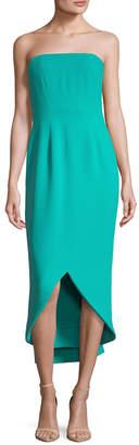 Oscar de la Renta Drape Back Silk Gown