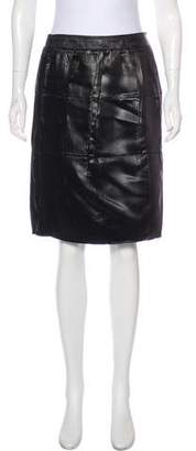 Prada Knee-Length Satin Skirt