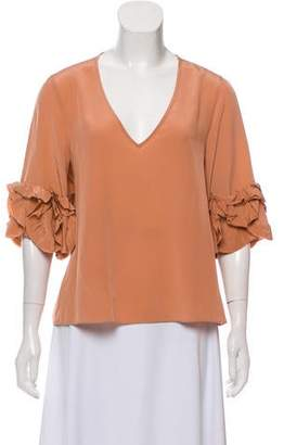 See by Chloe Silk V-Neck Blouse