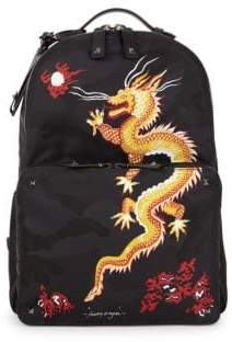 Valentino Funky Dragon Camo Backpack