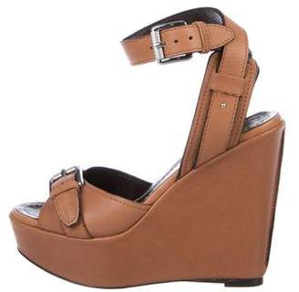 Barbara Bui Buckle-Accented Wedge Sandals