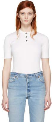 Courreges White Classic Button Pullover