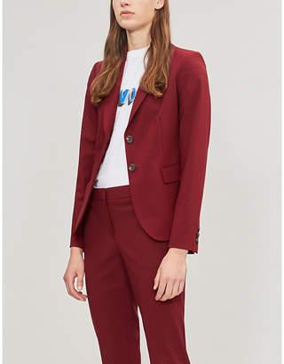Theory Women's Dark Red Carissa Stretch Wool Jacket