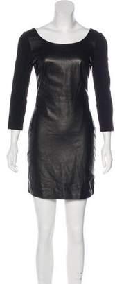 Diane von Furstenberg Zarita Scoop Leather Dress