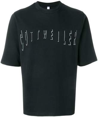 Cottweiler logo embroidered T-shirt