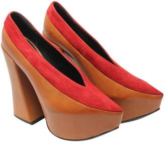Vivienne Westwood Beige Leather Heels