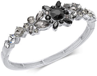INC International Concepts I.N.C. Silver-Tone Crystal Bangle Bracelet, Created for Macy's
