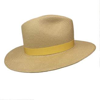 Yestadt Millinery Nomad Tan Packable Straw Fedora