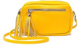 Isabella Collection Rhea Leather Tassel Crossbody