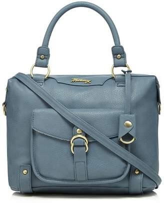 Mantaray Light Blue Front Pocket Bowler Bag