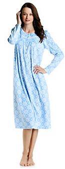 Aria® Microfleece Ballet Gown - Blue Floral