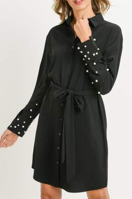 Gilli USA Pearl Sleeve Dress