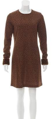 Philosophy di Alberta Ferretti Faux Fur-Trimmed Mini Dress