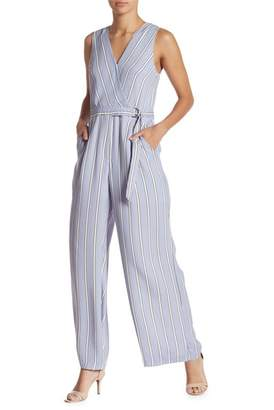 Gilli Striped Wrap Jumpsuit