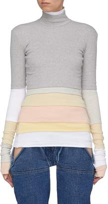 Y/Project Colourblock layered turtleneck sweater