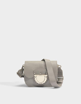 Furla Ducale Mini Crossbody Bag in Grey Calfskin