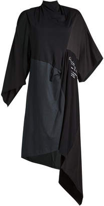 Balenciaga Draped Cotton Dress