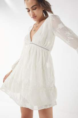 Urban Outfitters Clara Embroidered Empire-Waist Dress