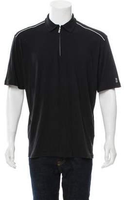 Zegna Sport Zip-Up Polo T-Shirt