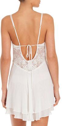 Jonquil Mist Lace-Inset Short Chemise $118 thestylecure.com