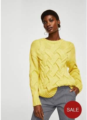 MANGO Knitted Braided Jumper