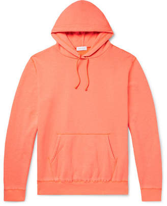 John Elliott Loopback Cotton-Blend Jersey Hoodie - Men - Orange