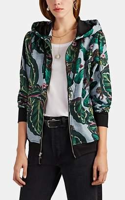 LoboRosa Women's Jungle-Print Fleece Zip-Front Hoodie