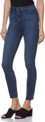 Paige Transcend - Margot High Waist Raw Hem Ankle Skinny Jeans