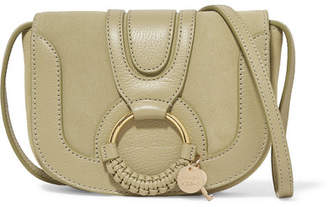 See by Chloe Hana Mini Textured-leather And Suede Shoulder Bag - Beige