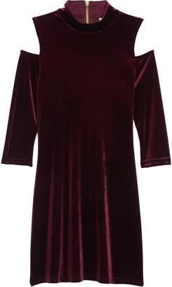 Blush by Us Angels Cold Shoulder Velvet Dress