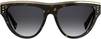 Moschino tortoishell oversized sunglasses