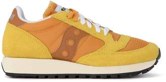 Saucony Jazz Vintage Sneaker In Suede, Fabric And Yellow Leather