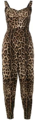 Dolce & Gabbana leopard print jumpsuit