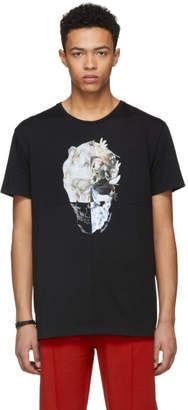 Alexander McQueen Black Split Skull T-Shirt