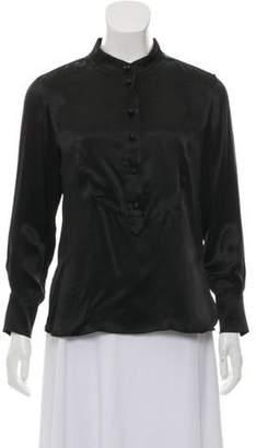 Sonia Rykiel Long Sleeve Silk Top Black Long Sleeve Silk Top