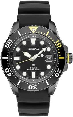 Seiko MEN'S PROSPEX 43.5MM SILICONE BAND STEEL CASE SOLAR WATCH SNE441