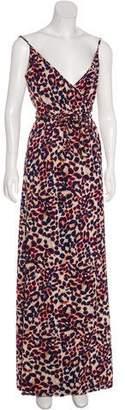 MISA Los Angeles Printed Wrap Dress