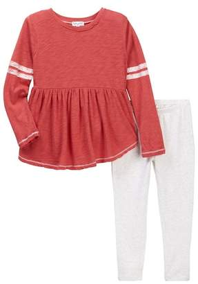 Splendid Football Set with Screened Stripes (Little Girls)