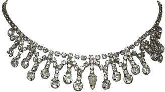 One Kings Lane Vintage Rhinestone Fringe Bib Necklace - Treasure Trove NYC